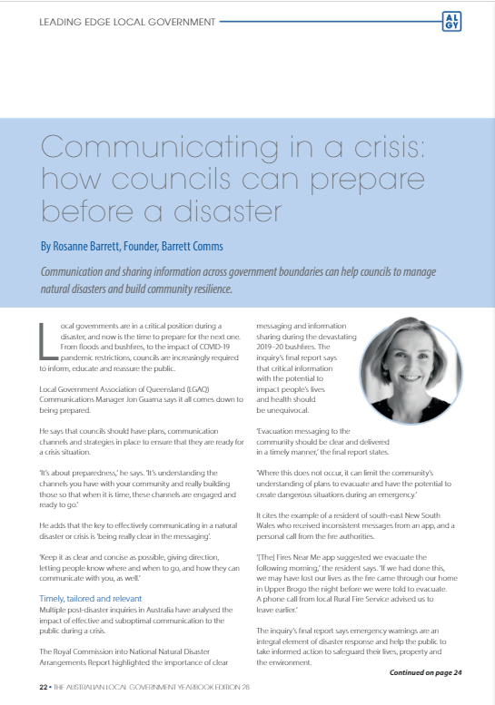 Article on crisis communications